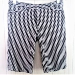 2/$20 Laundry Shelli Segal Black Dot Bermuda Short